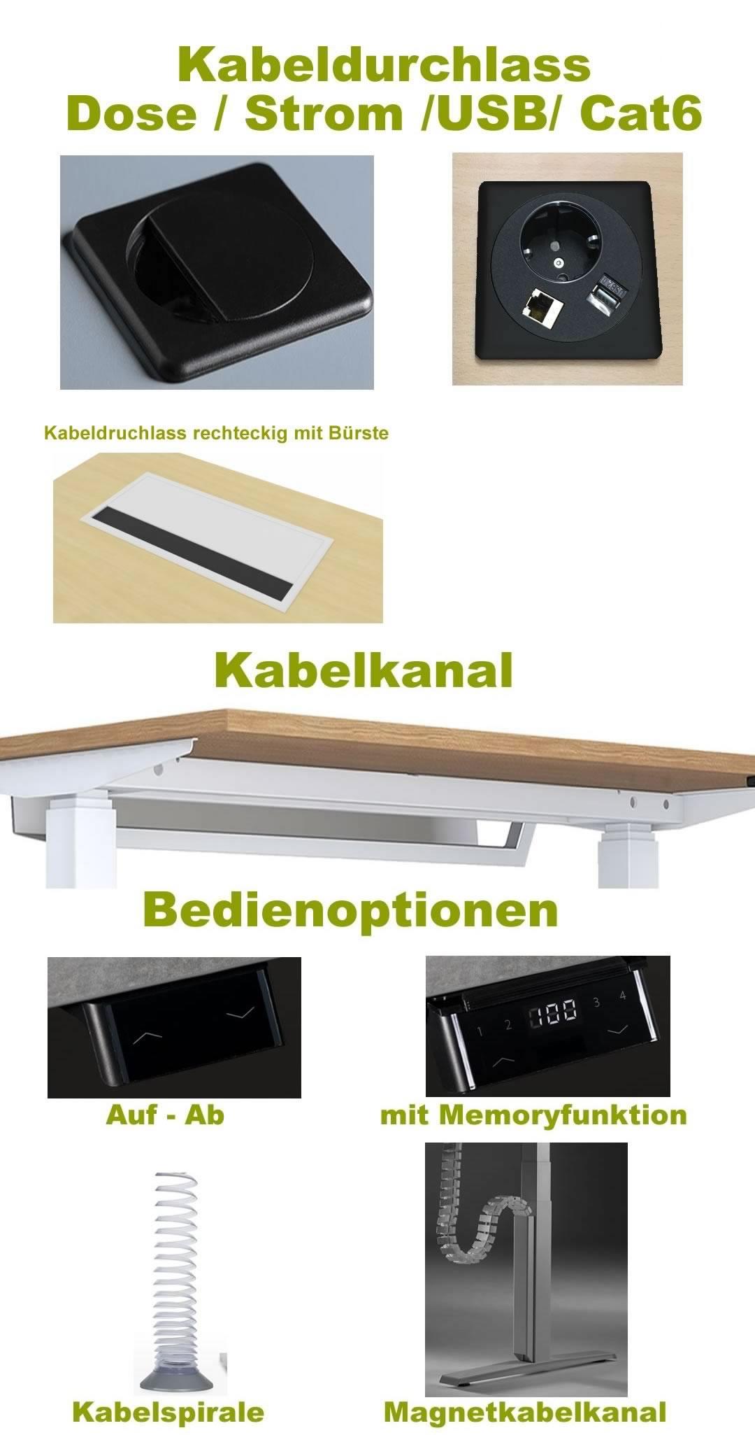 elektrisch h henverstellbarer schreibtisch e tisch. Black Bedroom Furniture Sets. Home Design Ideas