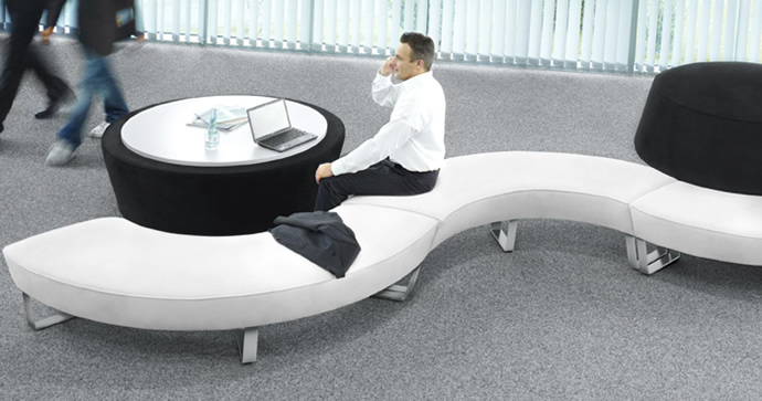 Lounge möbel büro  round-about Loungemöbel