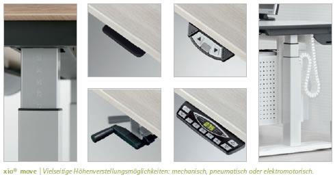 xio h henverstellbare schreibtische bei wilhelm schuster. Black Bedroom Furniture Sets. Home Design Ideas
