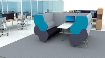 Lounge möbel büro  Hexa Loungemöbel - Kommunikationsmöbel - Sofas