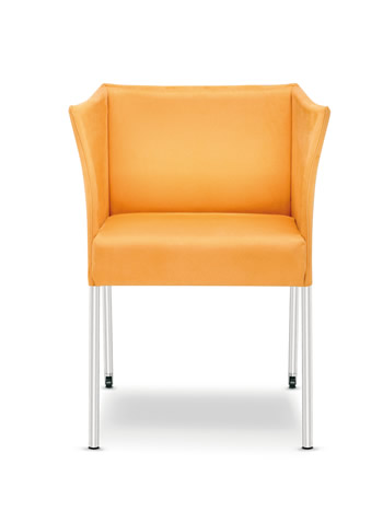Cubic Loungesessel mit Rollen orange