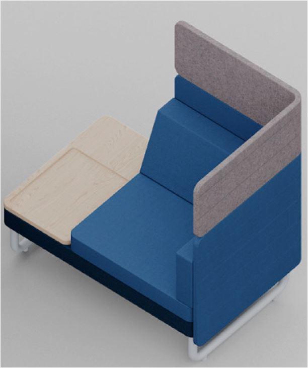 Play & Work Sofa mit Ansatztisch und Raumteiler