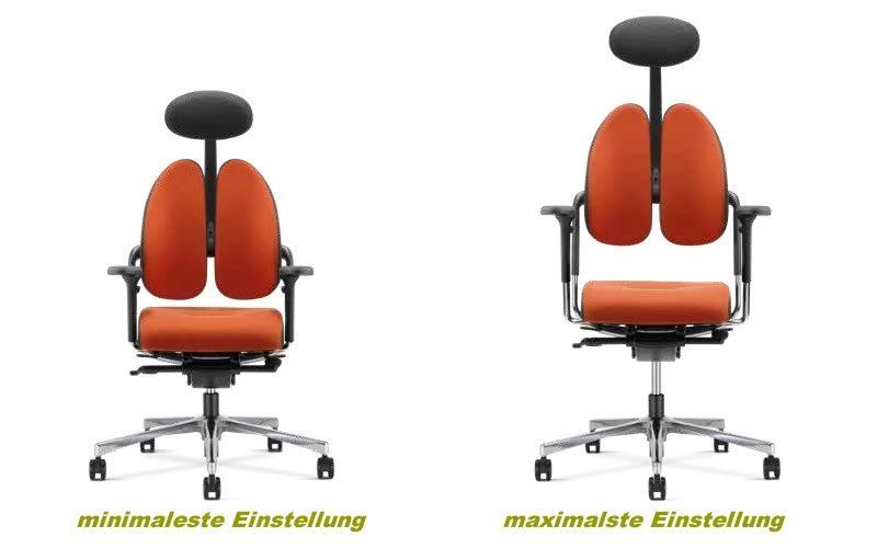 Xenium Bürostühle minimale / maximale Einstellmöglichkeit im Vergleich.