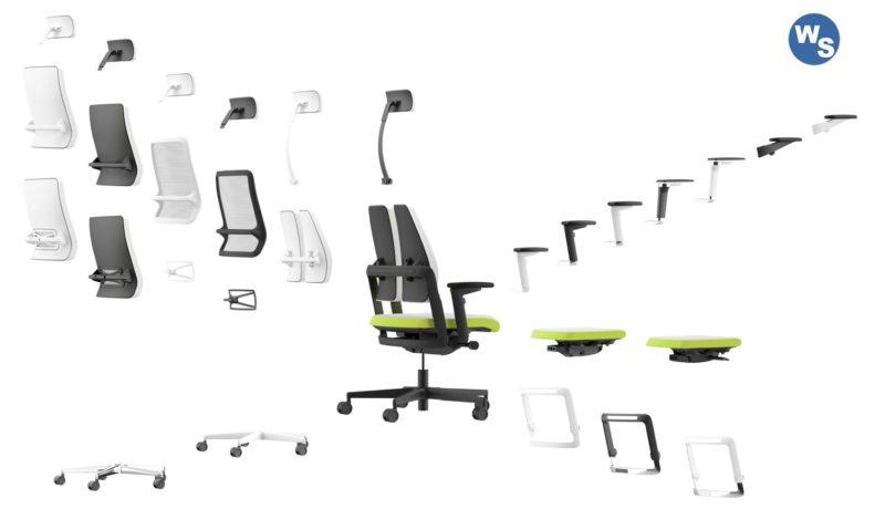 Produktvielfalt der Xenium Bürodrestuhl Serie.